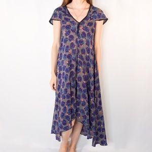 ZADIG & VOLTAIRE Rina Print Blue Floral Dress